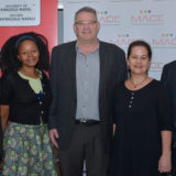 From the left are: Mr Brand Pretorius, retired CEO of McCarthy Ltd and Public Speaker; Ms Normah Zondo, National Vice-Chairperson of MACE; Dr Albert van Jaarsveld, Vice-Chancellor and Principal of UKZN; Ms Lacea Loader, National Chairperson of MACE; and Prof Ahmed Bawa, Chief Executive Officer of Universities South Africa (USAf)